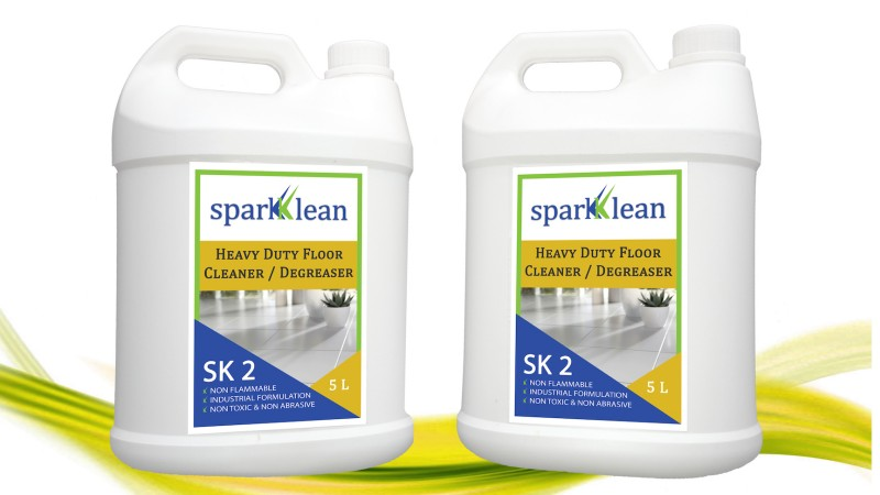 Sparkklean industrial for Concrete cleaner degreaser